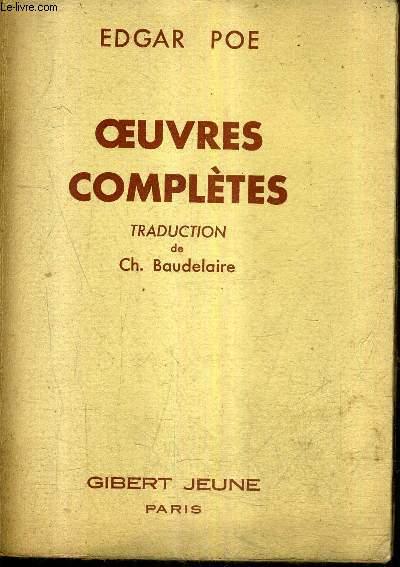 OEUVRES COMPLETES - TRADUCTION DE CH.BAUDELAIRE.