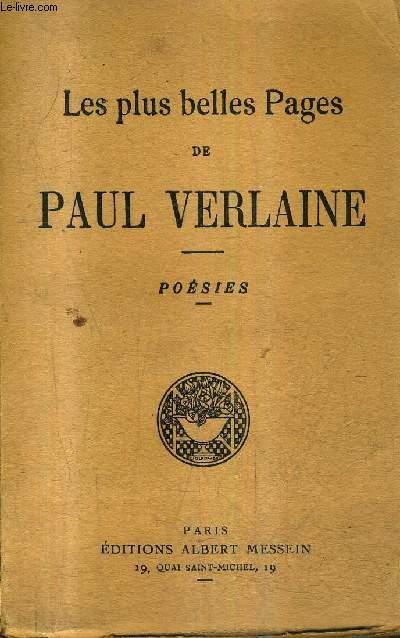 LES PLUS BELLES PAGES DE PAUL VERLAINE - POESIES.