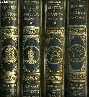 HISTOIRE DE LA NATION FRANCAISE - EN 14 TOMES - TOMES 1+2+3+4+5+6+7+8+9+10+12+13+14+15 - MANQUE LE TOME 11.