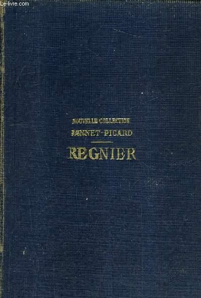 OEUVRES COMPLETES DE REGNIER REVUES SUR LES EDITIONS ORIGINALES AVEC PREFACE NOTES ET GLOSSAIRE PAR PIERRE JANNET.