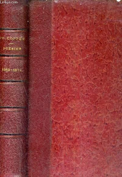 POESIES DE FRANCOIS COPPEE 1869 - 1874 - LES HUMBLES ECRIT PENDANT LE SIEGE PLUS DE SANG PROMENADES ET INTERIEURS LE CAHIER ROUGE.
