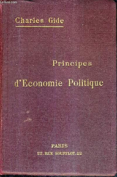 PRINCIPES D'ECONOMIE POLITIQUE / 19E EDITION.