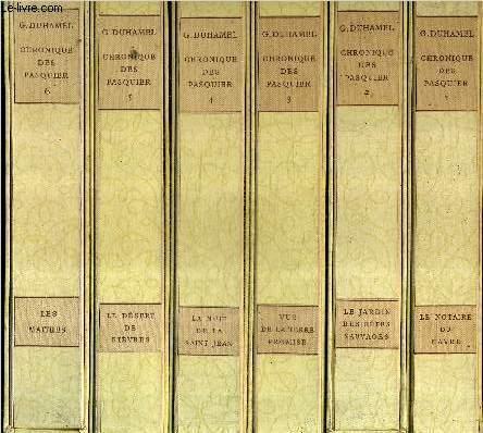 CHRONIQUE DES PASQUIER / EN 6 TOMES / TOMES 1 + 2 + 3 + 4 + 5 + 6 .