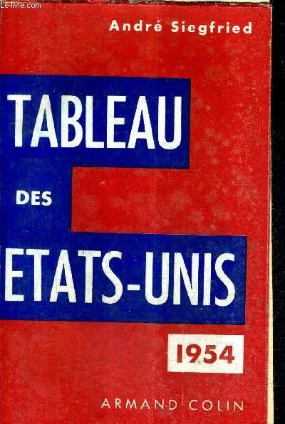 TABLEAU DES ETATS UNIS 1954.