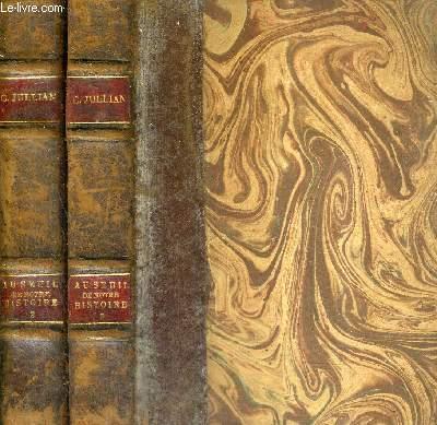 AU SEUIL DE NOTRE HISTOIRE - LECONS FAITES AU COLLEGE DE FRANCE - EN DEUX TOMES - TOMES 2 + 3  / COLLECTION BIBLIOTHEQUE DE LA REVUE DES COURS ET CONFERENCES.