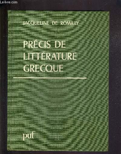 PRECIS DE LITTERATURE GRECQUE.