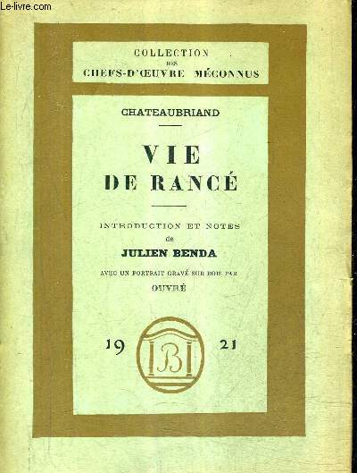 VIE DE RANCE / COLLECTION DES CHEFS D'OEUVRE MECONNUS.