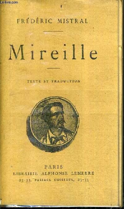 MIREILLE - TEXTE ET TRADUCTION.