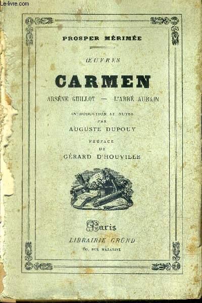 OEUVRES CARMEN ARSENE GUILLT - L'ABBE AUBAIN.