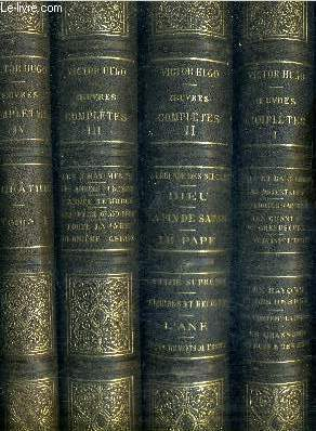 OEUVRES COMPLETES / EN 18 TOMES / TOMES 1 + 2 + 3 + 4 + 5 + 6 + 7 + 8 + 9 + 10 + 11 + 12 + 13 + 14 + 15 + 16 + 17 + 19 - manque le tome 18.