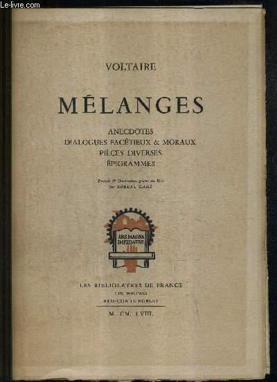 MELANGES - ANECDOTES DIALOGUES FACETIEUX ET MORAUX PIECES DIVERSES EPIGRAMMES.