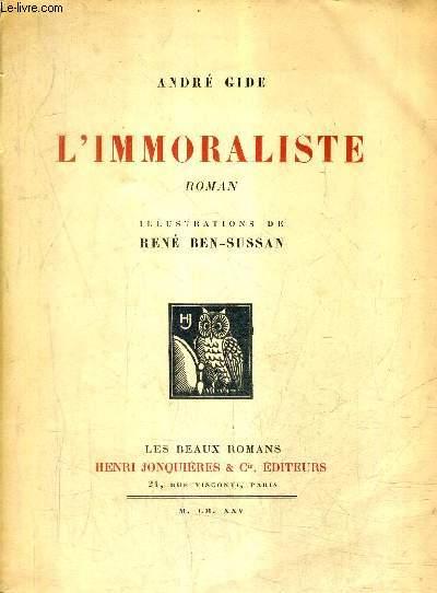 L'IMMORALISTE - ROMAN.