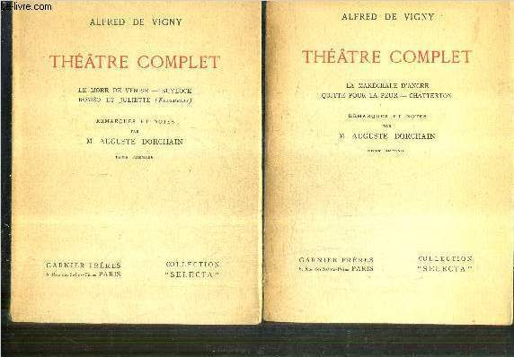 THEATRE COMPLET / EN 2 TOMES / TOMES 1 + 2 / COLLECTION  SELECTA.