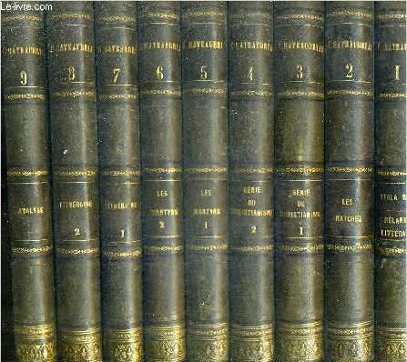 OEUVRES COMPLETES DE CHATEAUBRIAND AUGMENTEES D'UN ESSAI SUR LA VIE ET LES OUVRAGES DE L'AUTEUR / EN 16 TOMES - TOMES 1 A 16 .
