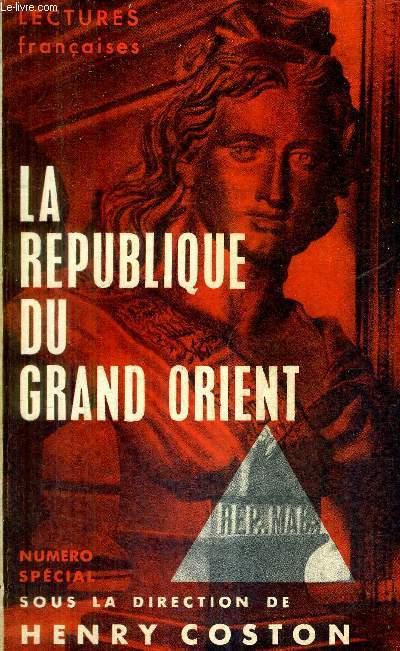 LECTURES FRANCAIS NUMERO SPECIAL JANVIER 1954 - LA REPUBLIQUE DU GRAND ORIENT.