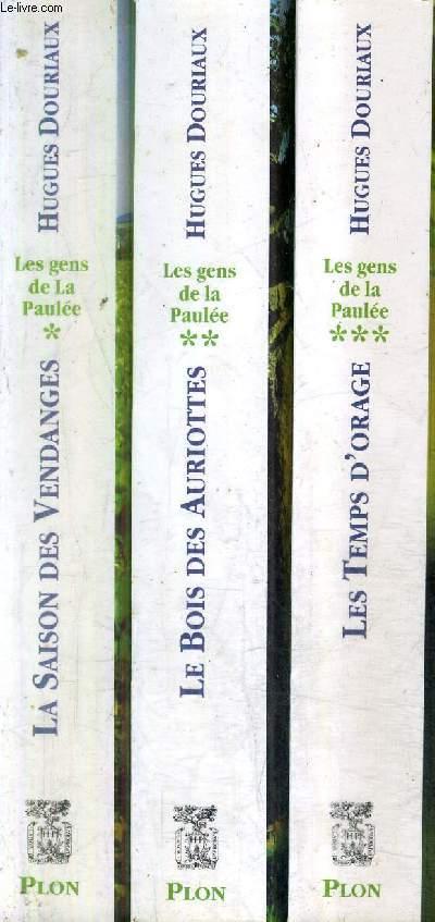 LES GENS DE LA PAULEE / EN 3 TOMES / TOMES 1 + 2 + 3 / TOME 1 : LA SAISON DES VENDANGES - TOME 2 : LE BOIS DES AURIOTTES - TOME 3 : LES TEMPES D'ORAGE .