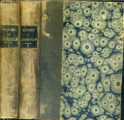 OEUVRES DE CORNEILLE D'APRES L'EDITION DE 1764 - EN DEUX TOMES / TOMES 1 + 2 .
