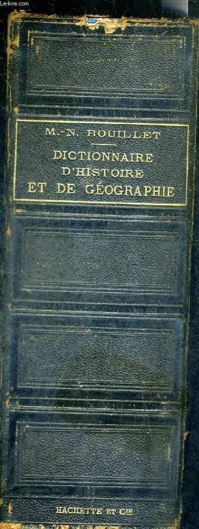 DICTIONNAIRE UNIVERSEL D'HISTOIRE ET DE GEOGRAPHIE - NOUVELLE EDITION (VINGT QUATRIEME) AVEC UN SUPPLEMENT .