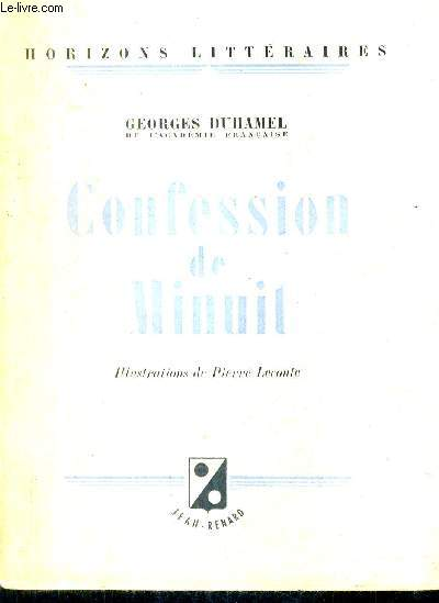 CONFESSION DE MINUIT / COLLECTION HORIZONS LITTERAIRES.