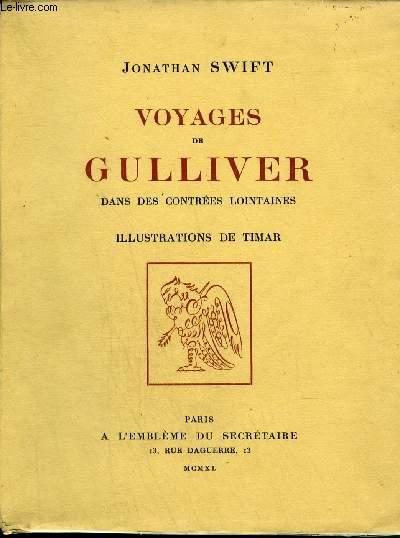 VOYAGES DE GULLIVER DANS DES CONTREES LOINTAINES - TOME 1 .