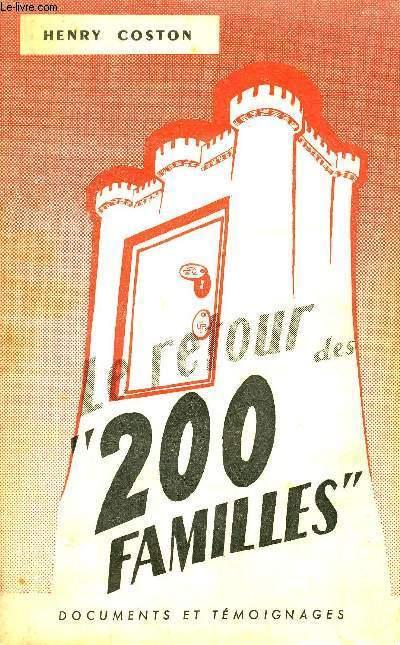 LE RETOUR DE 200 FAMILLES.
