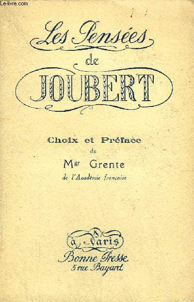 LES PENSEES DE JOUBERT.