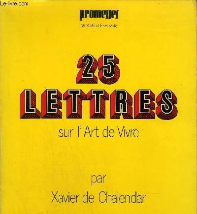 PROMESSES N° SPECIAL HORS SERIE - 25 LETTRES SUR L'ART DE VIVRE.