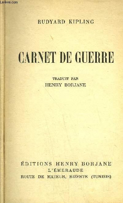 CARNET DE GUERRE