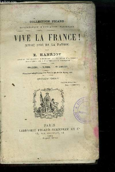 VIVE LA FRANCE !(LIVRE D'OR DE LA PATRIE) 4EME EDITION