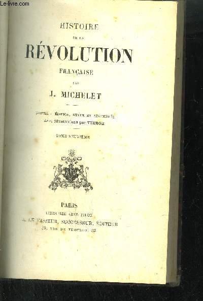 HISTOIRE DE LA REVOLUTION FRANCAISE TOME 9