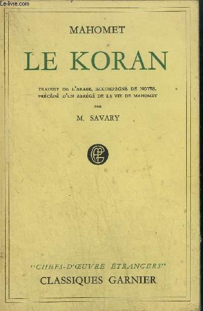 LE KORAN / collection CHEFS D'OEUVRES ETRANGERS