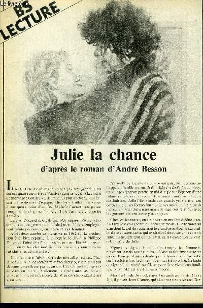BS LECTURE N°3375 - JULIE LA CHANCE
