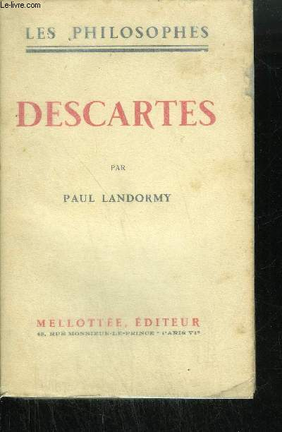 DESCARTES / COLLECTION LES PHILOSOPHES