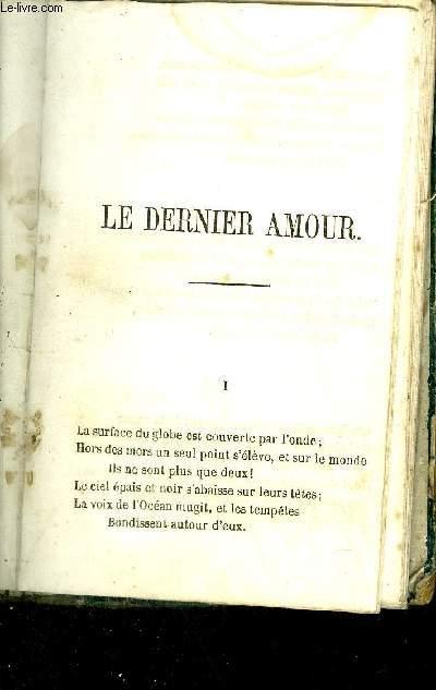 POEME - LE DERNIER AMOUR