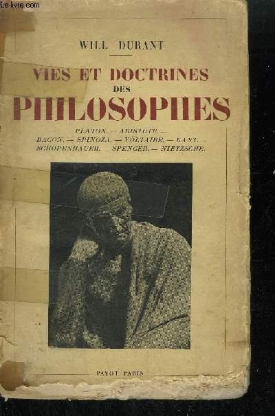 VIES ET DOCTRINES DES PHILOSOPHES -