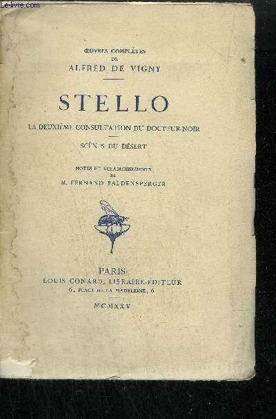 STELLO - LA DEUXIEME CONSULTATION DU DOCTEUR-NOIR - SCENES DU DESERT