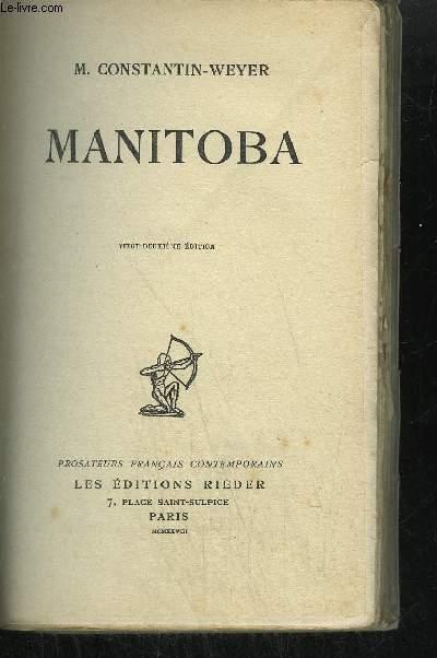 MANITOBA /COLLECTION PROSATEURS FRANCAIS CONTEMPORAINS