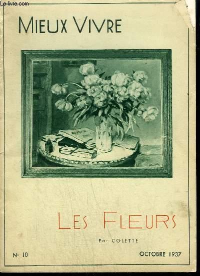 FASCICULE MIEUX VIVRE N°10 OCTOBRE 1937 - LES FLEURS