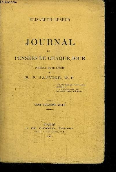 JOURNAL ET PENSEES DE CHAQUE JOUR