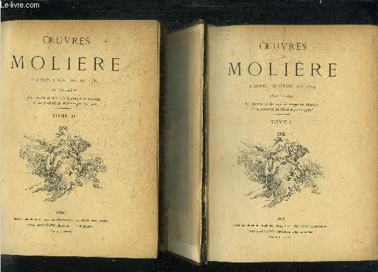 OEUVRES DE MOLIERE - TOME 1 ET 2