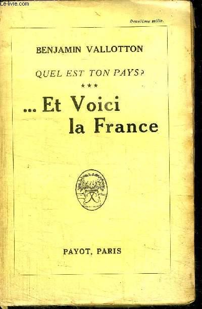QUEL EST TON PAYS ? ... ET VOICI LA FRANCE