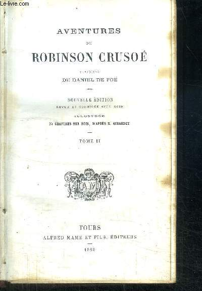 AVENTURES DE ROBINSON CRUSOE - TOME 2