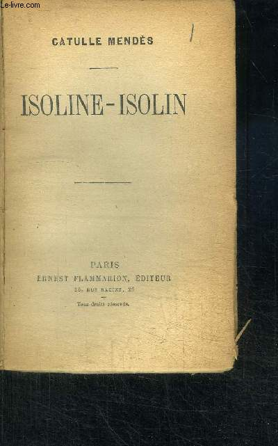 ISOLINE-ISOLIN / COLLECTION AUTEURS CELEBRES N° 234