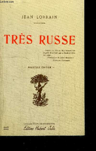 TRES RUSSE / COLLECTION MODERNITES