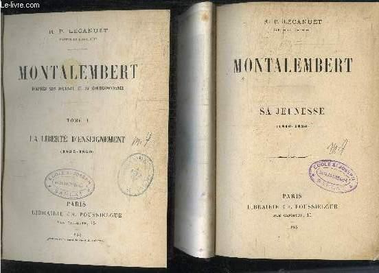 MONTALEMBERT - 3 TOMES