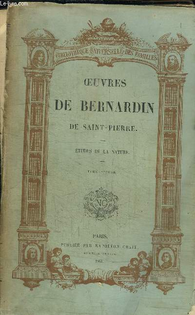 OEUVRES DE BERNARDIN DE SAINT-PIERRE - ETUDES DE LA NATURE / TOME 2