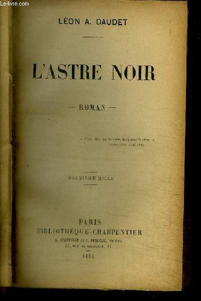 L'ASTRE NOIR