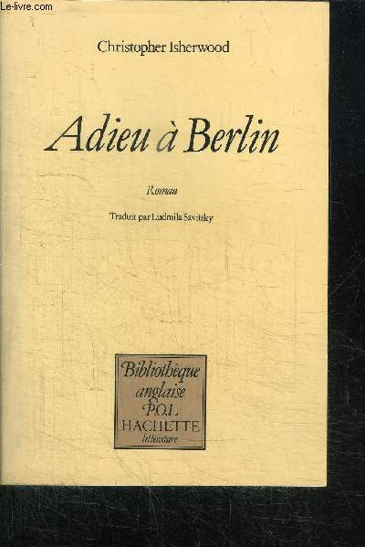 ADIEU A BERLIN / COLLECTION BIBLIOTHEQUE ANGLAISE