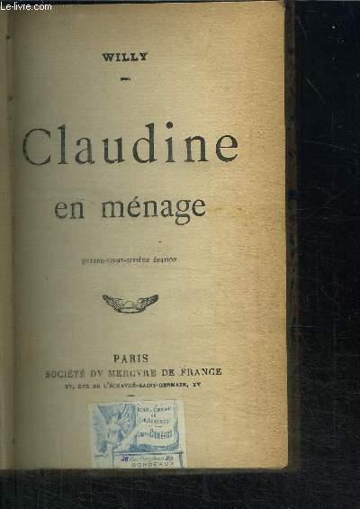 CLAUDINE EN MENAGE / 86e edition
