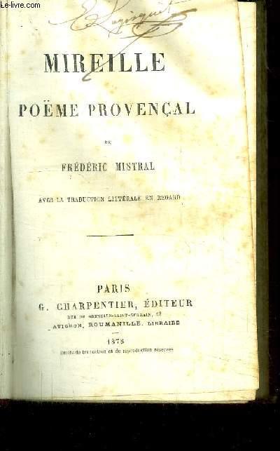 MIREILLE - POEME PROVENCAL